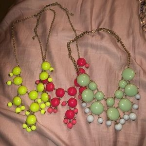 Bundle / 3 chunky necklaces
